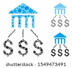 bank structure mosaic of... | Shutterstock .eps vector #1549473491