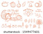 thanksgiving hand drawing... | Shutterstock .eps vector #1549477601
