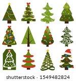big set of christmas tree... | Shutterstock . vector #1549482824