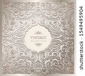 vintage vector frame with curly ... | Shutterstock .eps vector #1549495904