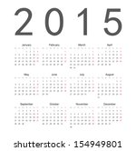 simple european 2015 year... | Shutterstock .eps vector #154949801