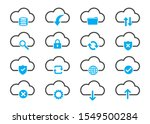 set of related to computing... | Shutterstock .eps vector #1549500284