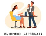 office worker using his...   Shutterstock .eps vector #1549501661