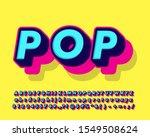 cool fancy pop art text effect... | Shutterstock .eps vector #1549508624