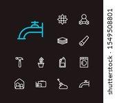 housekeeping icons set. water...