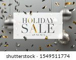 holiday sale background  banner ... | Shutterstock .eps vector #1549511774
