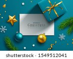 blue christmas background ... | Shutterstock .eps vector #1549512041