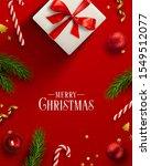christmas background  banner ... | Shutterstock .eps vector #1549512077