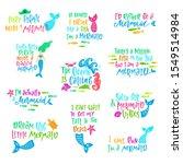 set of mermaid cartoon vector...   Shutterstock .eps vector #1549514984