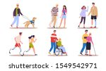 disabled people set. men and... | Shutterstock .eps vector #1549542971