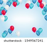 vector blue background with... | Shutterstock .eps vector #1549567241