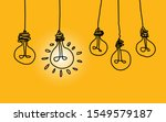 lamps hanging from above  line... | Shutterstock .eps vector #1549579187