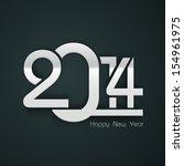 happy new year 2014 celebration ... | Shutterstock .eps vector #154961975