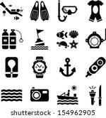 diving icons | Shutterstock .eps vector #154962905