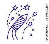 Firework Rocket Flying Icon....