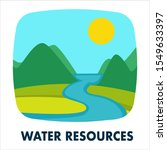 water resources icon. landscape ...