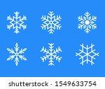 Snowflake Icons. Set Of Winter...