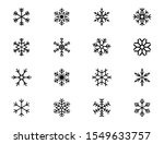 snowflake icons. set of winter... | Shutterstock .eps vector #1549633757