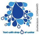 text with drops of water | Shutterstock .eps vector #154964495