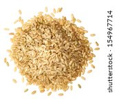 whole rice pile from top on...   Shutterstock . vector #154967714