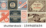 set of 8 vintage labels... | Shutterstock .eps vector #1549685654
