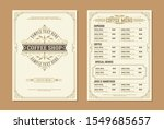 coffee shop logo with coffee... | Shutterstock .eps vector #1549685657