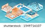 isometric vector of people...   Shutterstock .eps vector #1549716107
