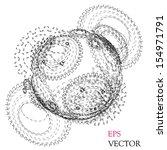 abstract hollow sphere  cogwheel | Shutterstock .eps vector #154971791
