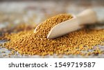 Grains of mustard. mustard...