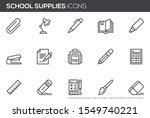 school supplies vector line... | Shutterstock .eps vector #1549740221