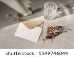 autumn stationery mockup scene. ... | Shutterstock . vector #1549746044