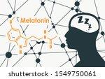 melatonin hormone chemical...   Shutterstock .eps vector #1549750061