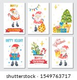 set of christmas or new year... | Shutterstock . vector #1549763717