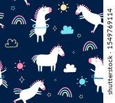 hand drawn unicorn elements... | Shutterstock .eps vector #1549769114