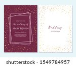 wedding invitation  thank you... | Shutterstock .eps vector #1549784957