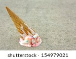 a rainbow colored ice cream... | Shutterstock . vector #154979021