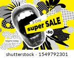 sale bright vector collage of... | Shutterstock .eps vector #1549792301