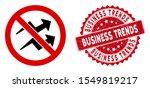 vector no trend arrows icon and ... | Shutterstock .eps vector #1549819217