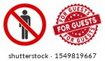 vector no man icon and grunge... | Shutterstock .eps vector #1549819667