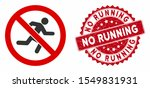 vector no running icon and... | Shutterstock .eps vector #1549831931