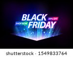 black friday banner with blue... | Shutterstock .eps vector #1549833764