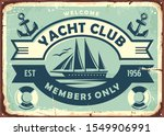 Yacht Club Sign Design With...
