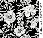 Peony Flower. Seamless Pattern  ...