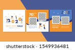 new year sale square banner for ... | Shutterstock .eps vector #1549936481