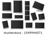 photo card frames. rectangular... | Shutterstock .eps vector #1549944071