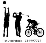 sports figures silhouette ... | Shutterstock .eps vector #154997717