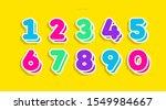 vector number set cute 3d bold...   Shutterstock .eps vector #1549984667