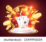 the four aces  surrounded by a... | Shutterstock .eps vector #1549993034