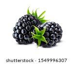 Blackberry Isolated On White...