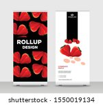 red strawberry abstract shapes... | Shutterstock .eps vector #1550019134